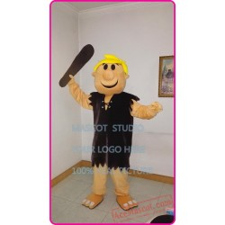 Barney Rubble Mascot Costume