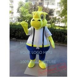 Yellow Rhino Mascot Costume