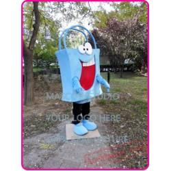 Bag Mascot Costume Blue Bag