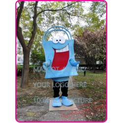 Bag Mascot Costume Blue Bag