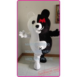 Black And White Bear Mascot Costume
