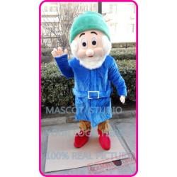 Blue Dwarf Mascot Costume