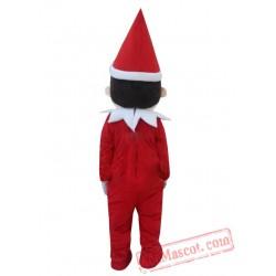 Adult Christmas Boy Elf Mascot Costume