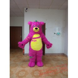 Adult Halloween Purple Monster Mascot Costume