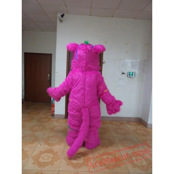 Adult Halloween Purple Monster Mascot Costume