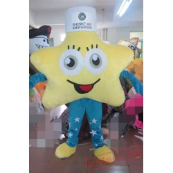 Blue Arms And Pants Yellow Star Mascot Costume
