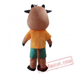 Animal Cow Costume Cosplay Outfits Adult Cartoon Mascot