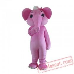 Adult Pink Elephant Mascot Costume Carnival Festival