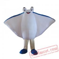 Adult Manta Ray See Fish Mascot Costume