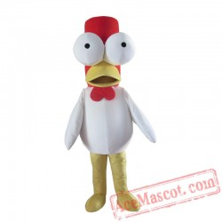 Big Eyes Chick Duck Mascot Costume Adult Cartoon Cosplay Costume