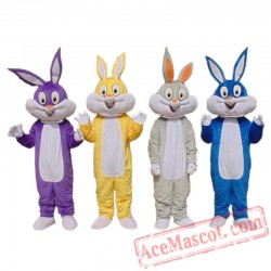 Adult Bugs Bunny Rabbit Mascot Costume Carnival Festival