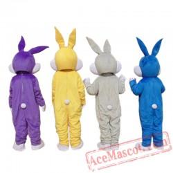 Adult Bugs Bunny Rabbit Mascot Costume Carnival Festival