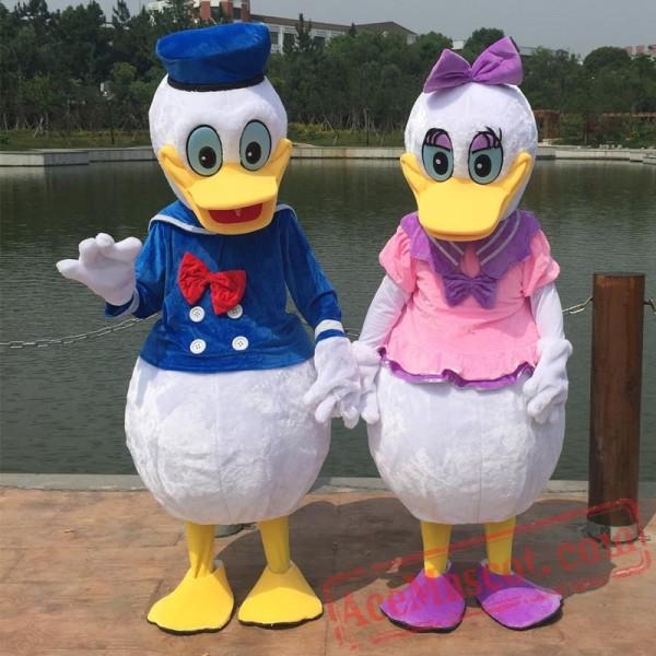 Adult Donald Duck Cartoon Mascot Costume