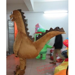 Adult Brown Dinosaur Mascot Costume