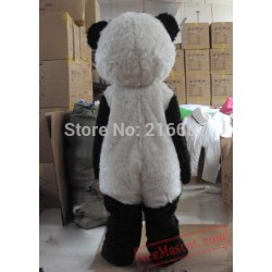 Black And White Panda Mascot Costume