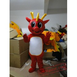 Adult Red Dinosaur Mascot Costumes Cartoon Costumes