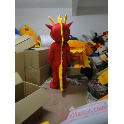Adult Red Dinosaur Mascot Costumes Cartoon Costumes