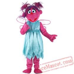 Abby Sesame Street Cadabby Mascot Cosplay Costume Elmo
