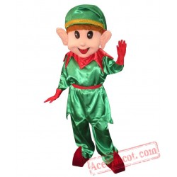 Adult Lovely Christmas Elf Pig Mascot Costume