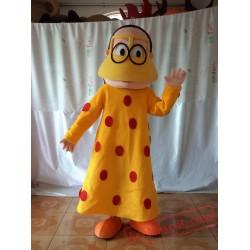 Yellow Skirt Arab Woman Mascot Costume