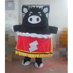 Black Pig Mascot Costume