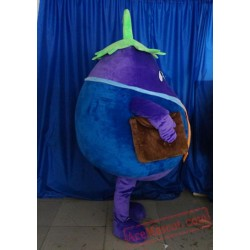 Adult Purple Eggplant Mascot Costume Vegetable