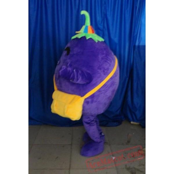 Adult Purple Eggplant Mascot Costume Vegetable