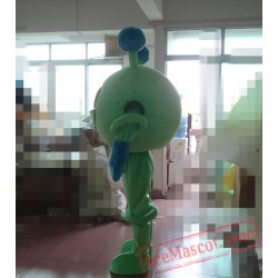 Adult Cartoon Lovely Green Eyes Mascot Costume