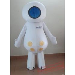 Adult White Happy Doll Mascot Costume