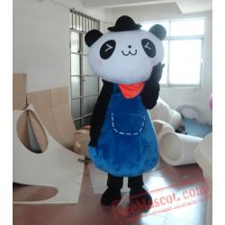 Blue Bear Mascot Costume