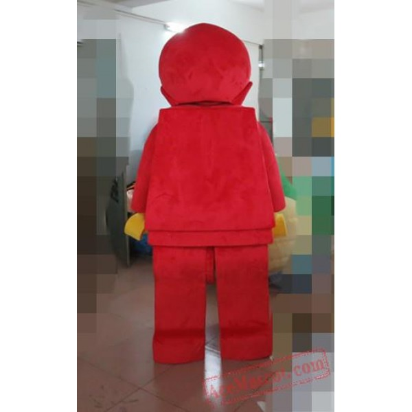 Adult Character Red Robot Mascot Costume
