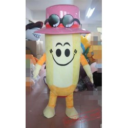 Yellow Pencil Mascot Costume