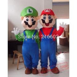 Adult Super Mario And Luigi Mascot Costume