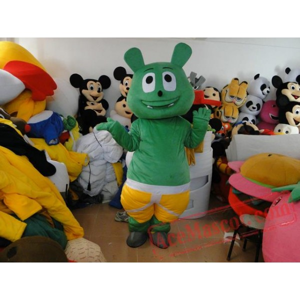 Adult Cartoon Character Green Bear Mascot Costume
