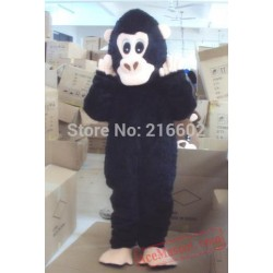 Black Orangutans Cartoon Mascot Costume