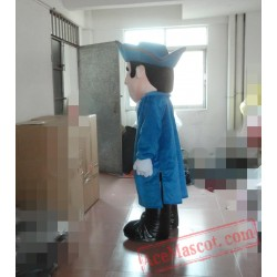 Adult Blue Soldier Mascot Costume
