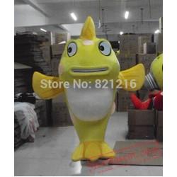 Yellow Fish Mascot Costume Adult Character Costume