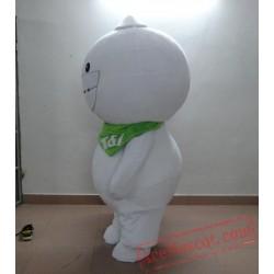 Adult White Robot Doll Mascot Costume
