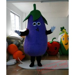 Adult Cartoon Character Eggplant Mascot Costume