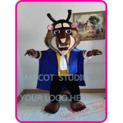 Beast Mascot Mrs Pott Candlestick Golden Alarm Costume