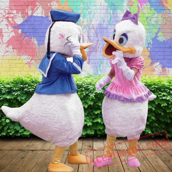 Donald Duck Daisy Disney Cartoon Mascot Costume for Adults