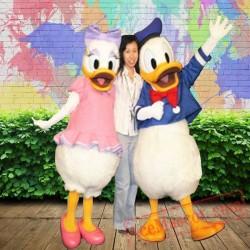 Donald Duck Daisy Disney Cartoon Mascot Costume for Adults
