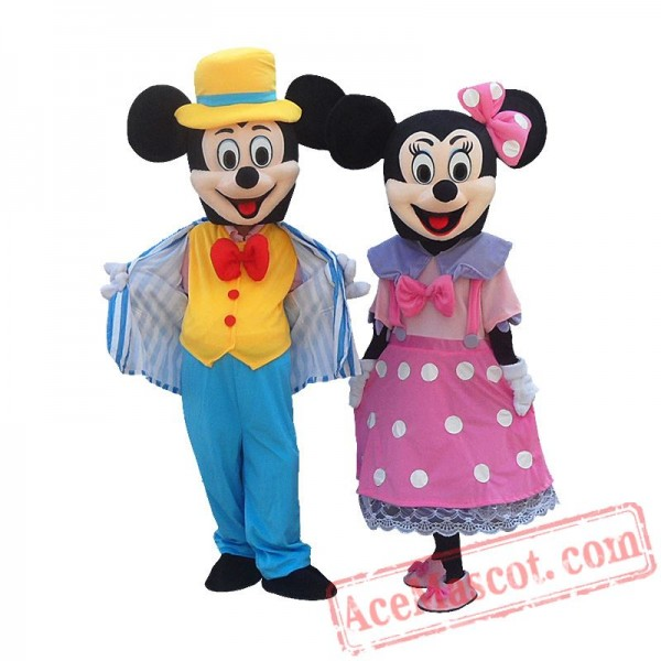 Disney Mickey Minnie Mouse Cartoon Mascot Costume for Adults