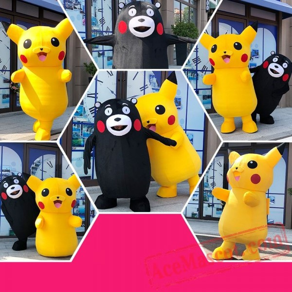 Bear Pikachu Mascot Costume for Adults