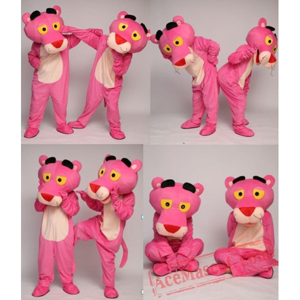 Pink Panther Mascot Costume for Adults