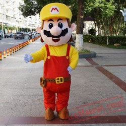 Super Mario Mascot Costume for Adults