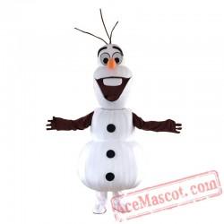 Snowman Mascot Costume for Adults