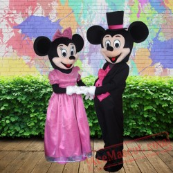 Wedding Mickey Minnie Mouse Disney Mascot Costume for Adults