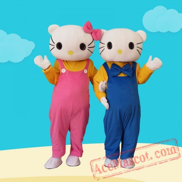 Hellokitty Cat Cartoon Mascot Costume for Adults