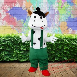 Cow Mascot Costume for Adults